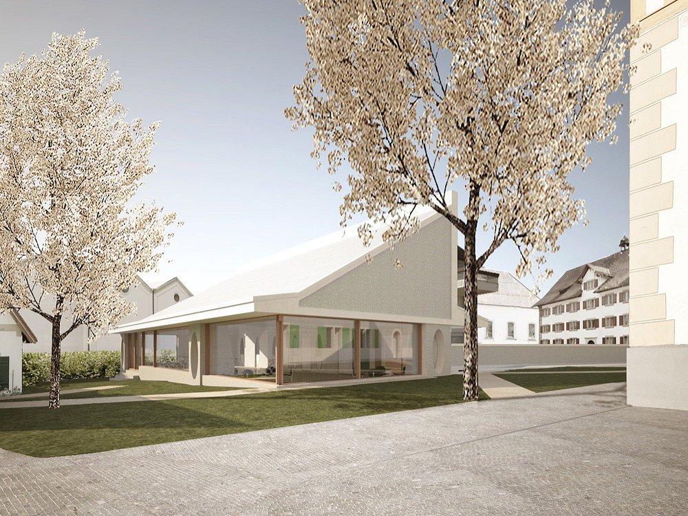 Der neue Kirchgemeindesaal im Pfarrhof