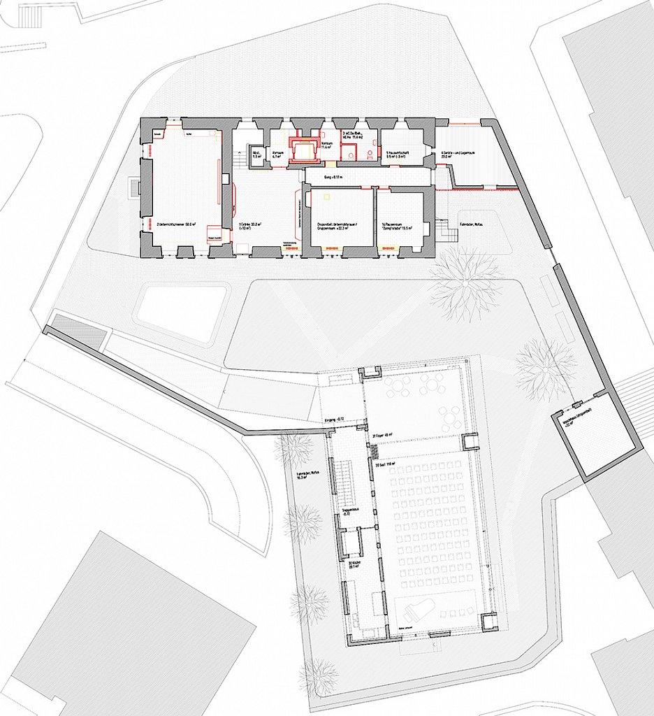 Erdgeschossplan Pfarrhof