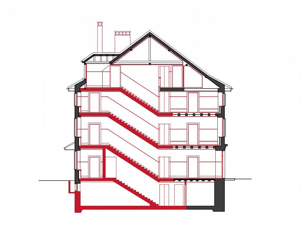 Querschnitt Treppenhaus